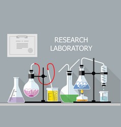 Chemical Research Laboratory Flat design vector image vector image