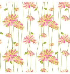 Colorful Flower Seamless Pattern Background vector image vector image