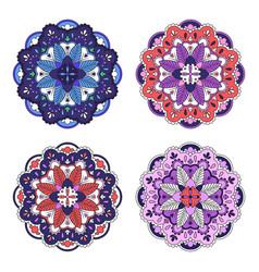 Colorful mandala set vector