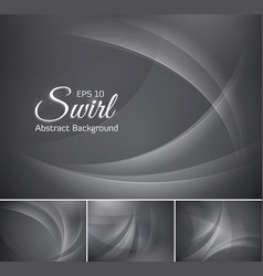 Curvy abstract background grey vector