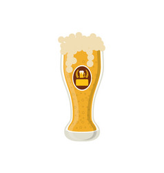 Delicious and cold beer vector