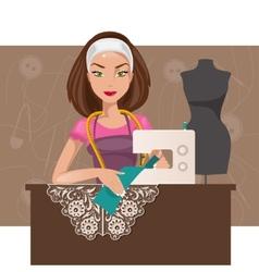 Dressmaker woman vector