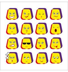emotive smileys vector image