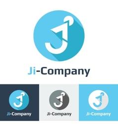 flat minimalistic it or design studio logo vector image vector image