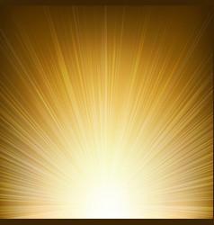 golden sunburst background vector image