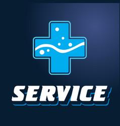 logo service plus vector image vector image