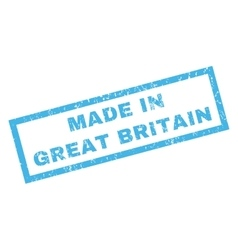 Made in great britain rubber stamp vector
