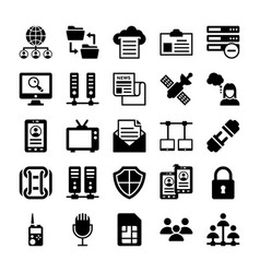 Network and communication icons 11 vector
