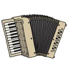 Old beige accordion vector
