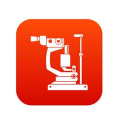 Phoropter icon digital red vector