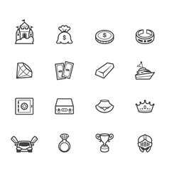 property element black icon set on white bg vector image vector image
