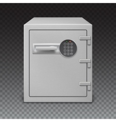 Safe with digital lock sophisticated details vector image