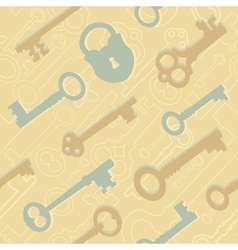 Seamless key pattern vector image