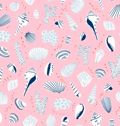 Shells pattern vector image vector image