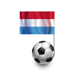 Soccer balls or footballs with flag of luxembourg vector