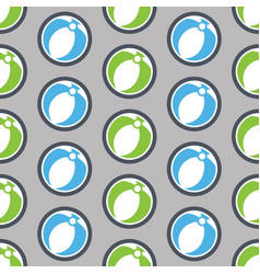 Summer seamless pattern with beach ball vector