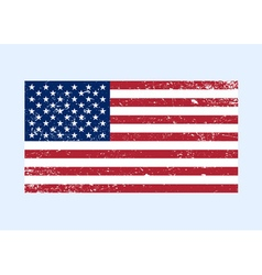 Usa flag color grunge vector