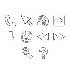 Utility icon set vector