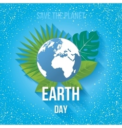 Earth day ecology concept vector