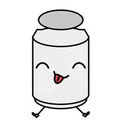 Mason jar with ingredient kitchen kawaii character vector