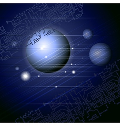 space abstraction vector image