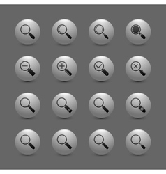 Magnify lens icon set vector
