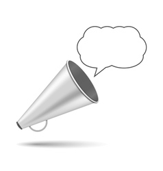 Megaphone with speech bubble vector