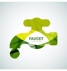 Faucet logo vector image