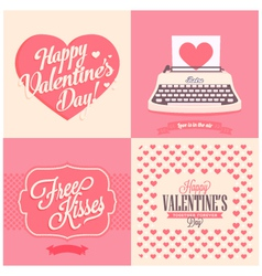 Happy valentins day vector