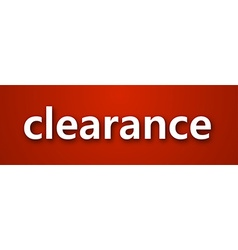 Paper clearance sign vector