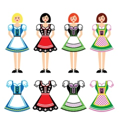 Dirndl - traditional dress worn in germany vector