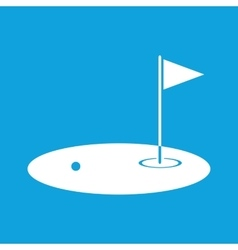 Golf field icon simple vector