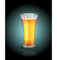 Glass with drink on the dark blue background vector