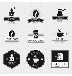 Vintage coffee labels and logos set vector