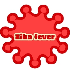 Abstract virus image and zika fever text vector