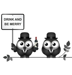 Drink and be merry vector image