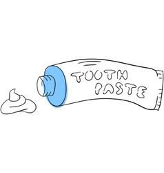 Toothpaste vector image