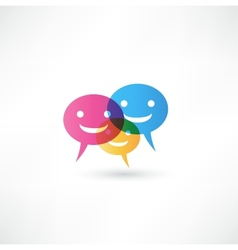 abstract smile talking bubble vector image vector image