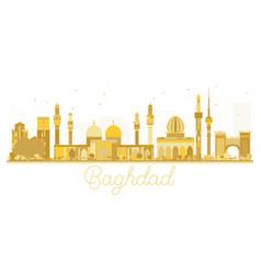 Baghdad iraq city skyline golden silhouette vector