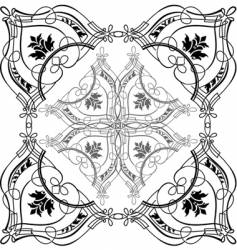 Baroque calligraphy vector