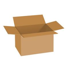 carton box mockup realistic style vector image