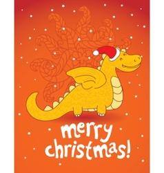 christmas dragon vector image