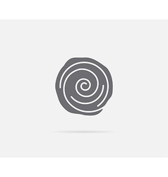 Cinnamon bun roll element or icon ready for print vector