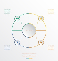 Circle from 4 coloured lines vector image vector image