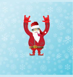 Dj santa claus with smoking pipe santa vector