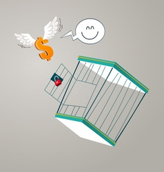Escape from a cage vector