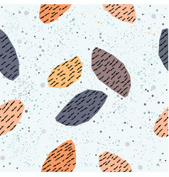 Geometrically shaped stones in pastel colors vector