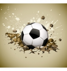 Grunge football soccer ball vector