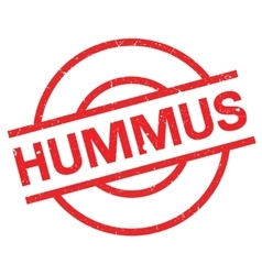 Hummus rubber stamp vector