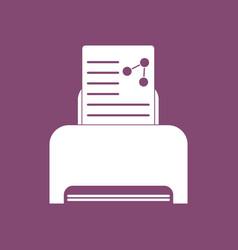 Icon molecules and printer vector